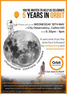 Orbit Birthday invite